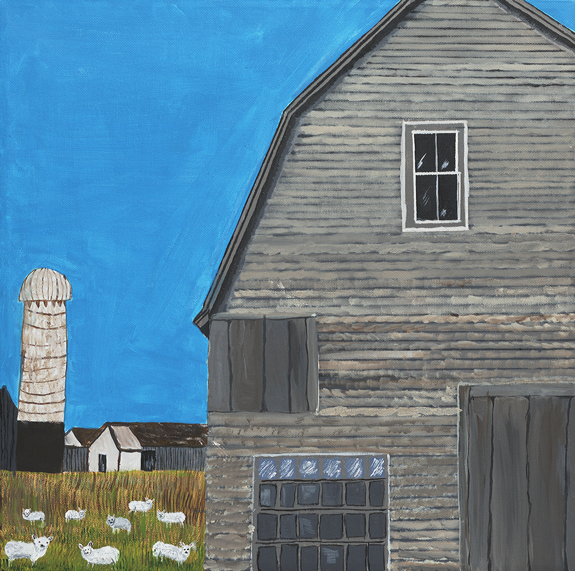 landscape art on canvas barn