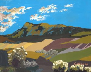 landscape art on canvas santa fe mountain