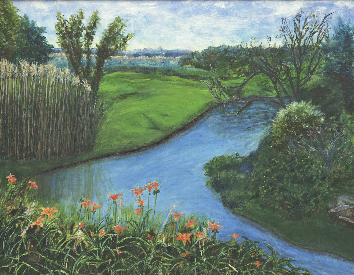 landscape art on canvas