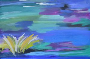 abstract art landscape on canvas